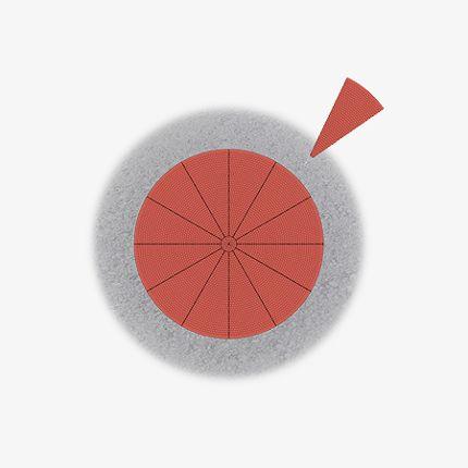 Mini-Kreisel, komplett überfahrbar