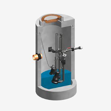 FUCHS Standard-Pumpstation Schmutzwasser