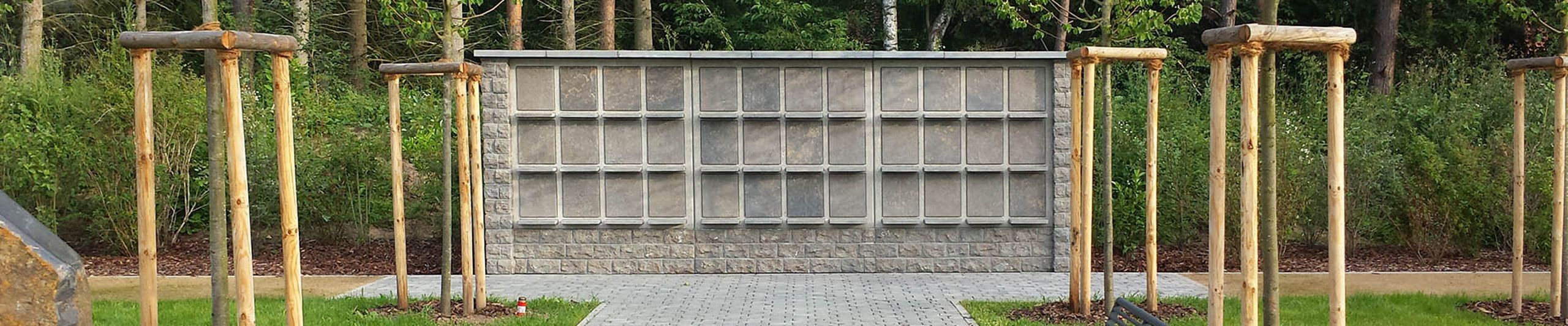 Urn wall systems for cemeteries
