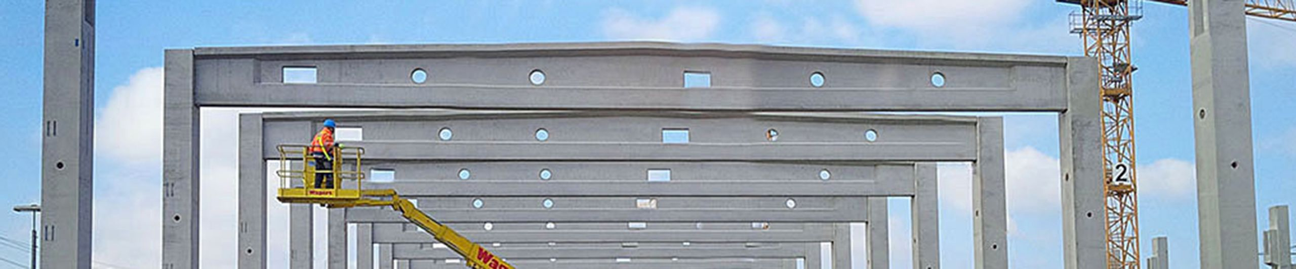 Prestressed concrete for TT ceilings, girders, car park ceilings