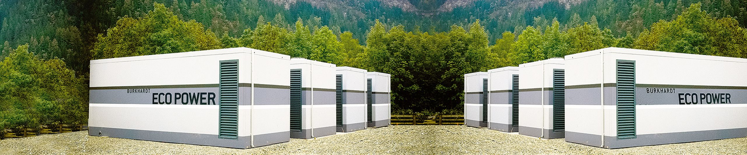 Modular rooms and distribution stations made of concrete